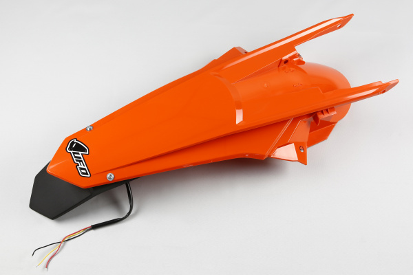 Rear fender / Enduro LED - orange 127 - Ktm - REPLICA PLASTICS - KT04070-127 - UFO Plast