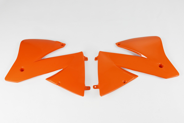 Radiator covers / SX - orange 127 - Ktm - REPLICA PLASTICS - KT03066-127 - UFO Plast