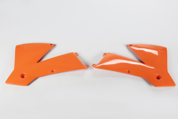 Radiator covers / SX - orange 127 - Ktm - REPLICA PLASTICS - KT03065-127 - UFO Plast