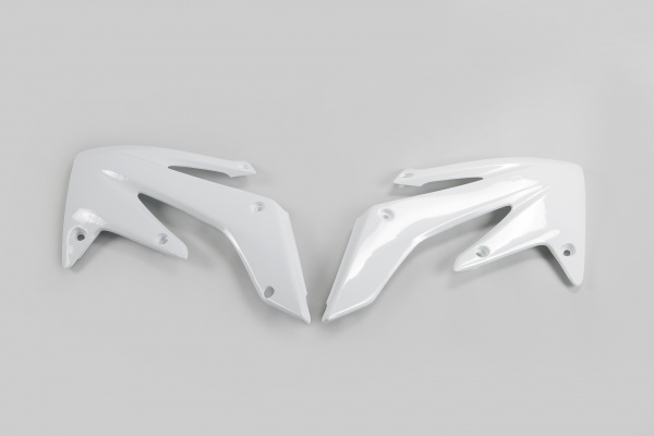 Radiator covers - white 041 - Honda - REPLICA PLASTICS - HO03634-041 - UFO Plast