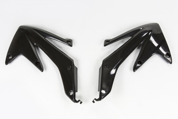 Radiator covers - black - Honda - REPLICA PLASTICS - HO04600-001 - UFO Plast
