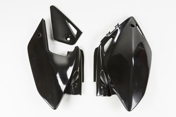 Side panels - black - Honda - REPLICA PLASTICS - HO04601-001 - UFO Plast