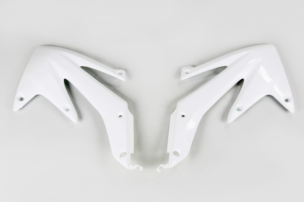 Radiator covers - white 041 - Honda - REPLICA PLASTICS - HO04600-041 - UFO Plast