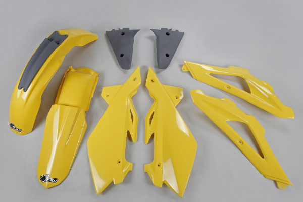 Complete body kit - yellow 103 - Husqvarna - REPLICA PLASTICS - HUKIT602-103 - UFO Plast