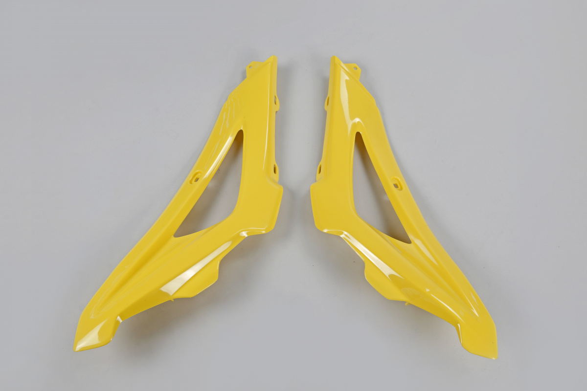 Radiator covers / Upper part - yellow 103 - Husqvarna - REPLICA PLASTICS - HU03316-103 - UFO Plast