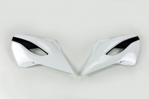 Radiator covers / White-black - oem 14 - Husqvarna - REPLICA PLASTICS - HU03353-041 - UFO Plast