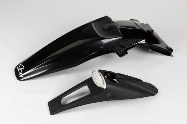Rear fender / Enduro LED - black - Kawasaki - REPLICA PLASTICS - KA03791-001 - UFO Plast