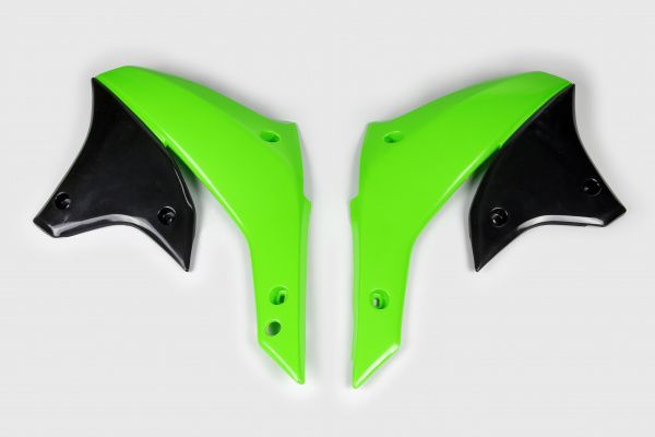 Radiator covers - green - Kawasaki - REPLICA PLASTICS - KA03789-026 - UFO Plast