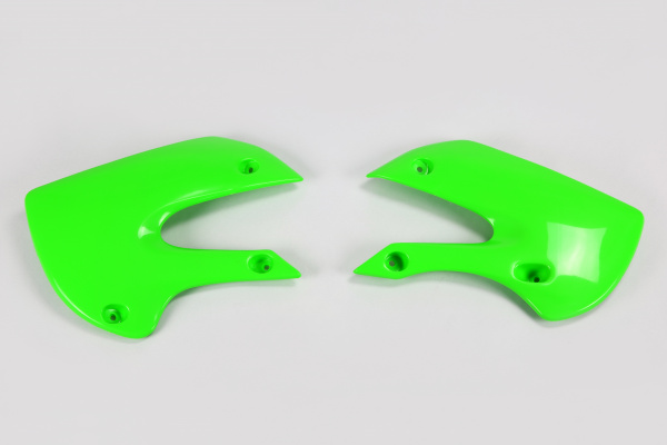 Radiator covers - green - Kawasaki - REPLICA PLASTICS - KA03733-026 - UFO Plast
