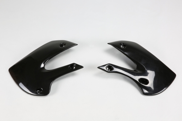 Radiator covers - black - Kawasaki - REPLICA PLASTICS - KA03733-001 - UFO Plast