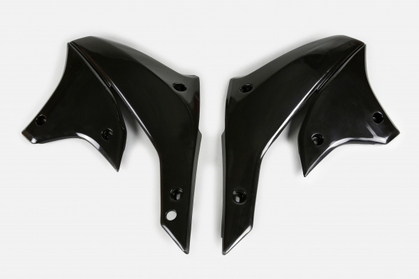 Radiator covers - black - Kawasaki - REPLICA PLASTICS - KA03789-001 - UFO Plast