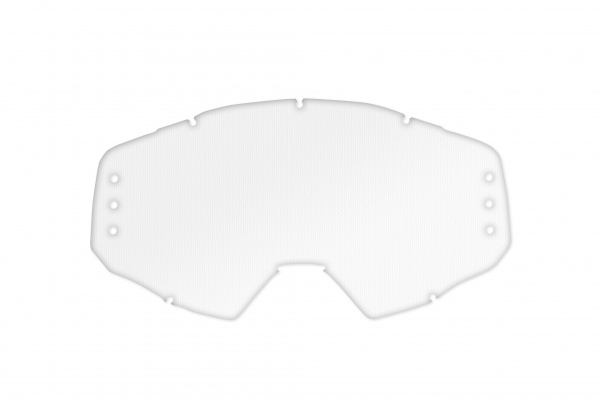 Clear lens with roll off's holes for motocross Epsilon goggle - Goggles - LE02210 - UFO Plast