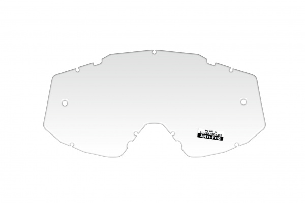Clear lens with roll off's holes for motocross Mystic google - Goggles - LE02201 - UFO Plast