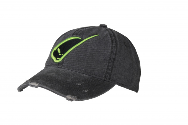 Cap with embroidery logo gray and green - Cappellini - CP04376 - UFO Plast