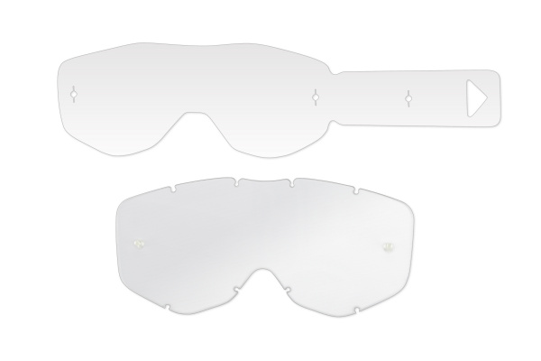 Clear lenses with 12 tear off's for motocross Sirius google - Goggles - LE02194 - UFO Plast