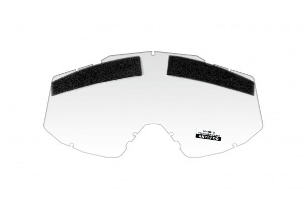 Vented clear lens for motocross Mystic google - Goggles - LE02199 - UFO Plast