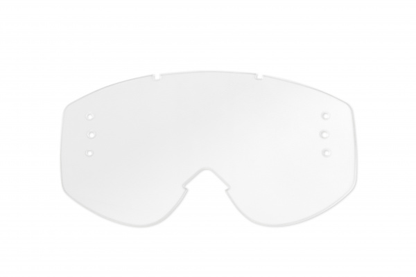 Clear lens with roll off's holes for motocross google Nazca, Fusion Evolution, Nazca Evolution2 - Goggles - LE02167 - UFO Plast