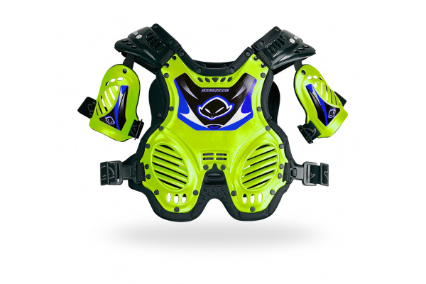 Motocross chest protector Shock Wave for kids short neon yellow - Chest protectors - PT02066-DFLU - UFO Plast