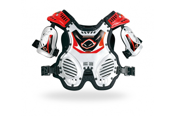 Motocross chest protector Shock Wave for kids short white and red - Chest protectors - PT02066-W - UFO Plast