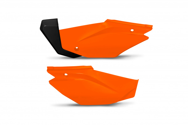 Side panels - neon orange - Honda - REPLICA PLASTICS - HO05601-FFLU - UFO Plast