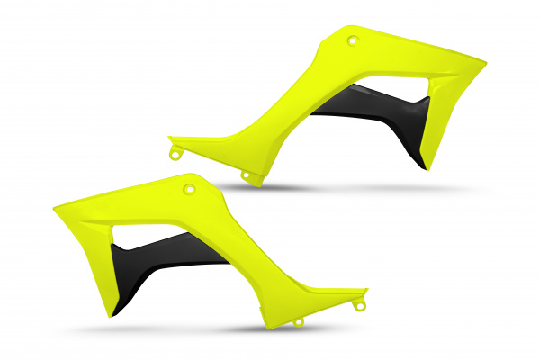 Radiator covers - neon yellow - Honda - REPLICA PLASTICS - HO05600-DFLU - UFO Plast