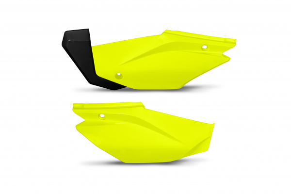 Side panels - neon yellow - Honda - REPLICA PLASTICS - HO05601-DFLU - UFO Plast