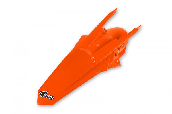 Rear fender / With pins - neon orange - Ktm - REPLICA PLASTICS - KT04081-FFLU - UFO Plast