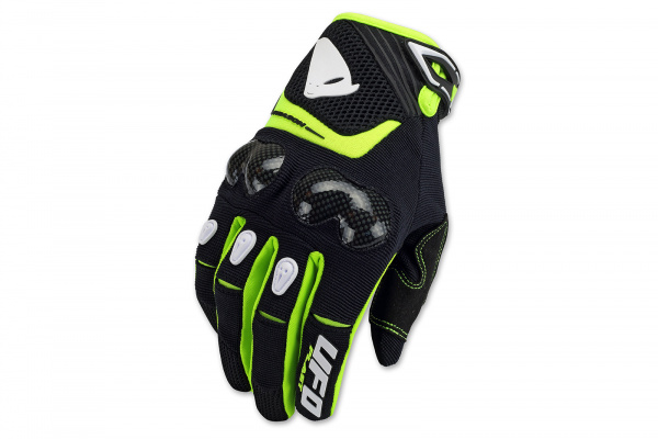 Motocross Reason gloves black and neon yellow - Gloves - GU04420-K - UFO Plast