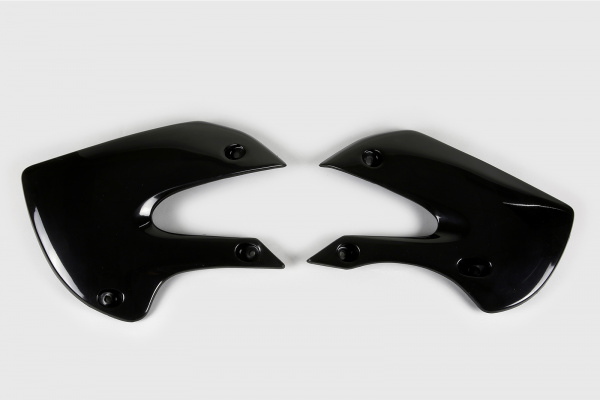 Radiator covers - black - Suzuki - REPLICA PLASTICS - SU03927-001 - UFO Plast