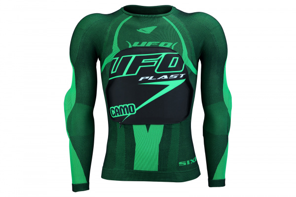 Motocross undershirt Camo with protections - Chest protectors - PE02376-A - UFO Plast
