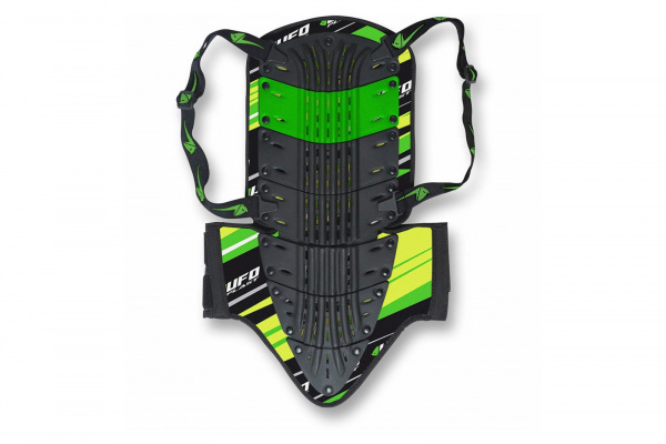 Motocross back protector Orion short green and black - Back protectors - PS02077-A - UFO Plast