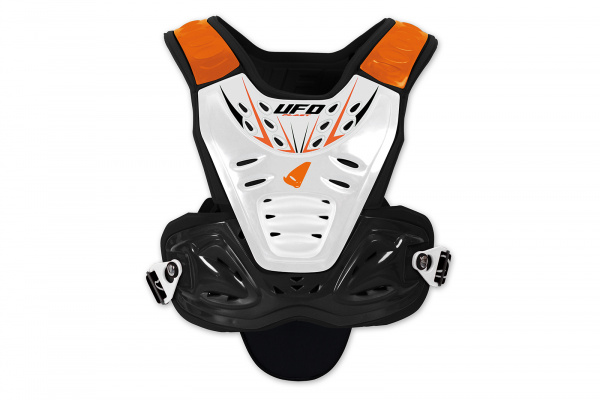 Motocross chest protector Valkyrie Evo for kids short white and orange - Chest protectors - PT02360-F - UFO Plast