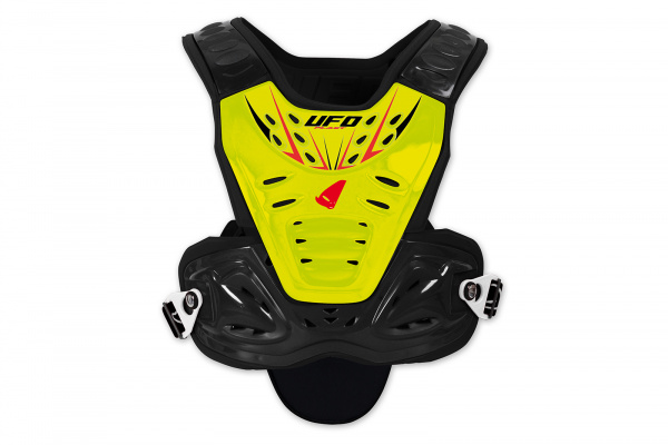 Motocross chest protector Valkyrie for kids short neon yellow - Chest protectors - PT02360-D - UFO Plast