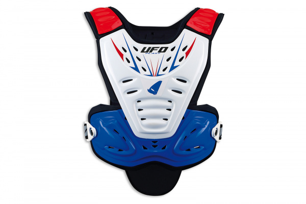 Motocross Valkyrie Evo chest protector long version white, blu and red - Chest protectors - PT02359-CX - UFO Plast