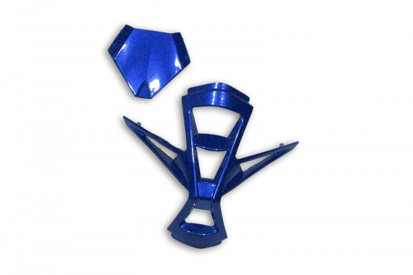 Mouthpiece & top air scoop for motocross Warrior helmet blue - Helmet spare parts - HR005-C - UFO Plast
