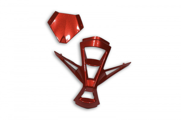 Mouthpiece & top air scoop for motocross Warrior helmet red - Helmet spare parts - HR005-B - UFO Plast