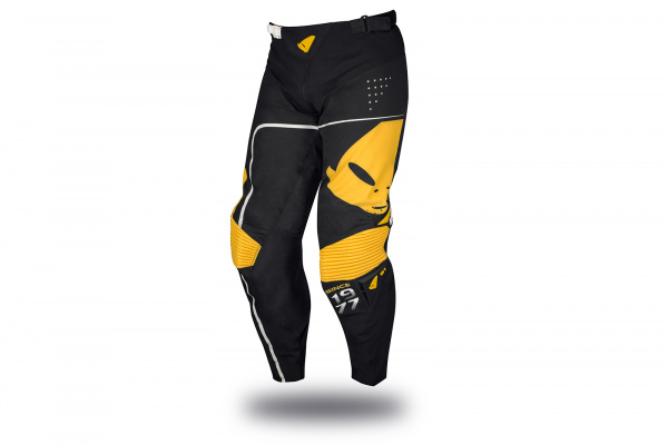 Motocross Slim Sharp pants black and yellow - Pants - PI04444-K - UFO Plast