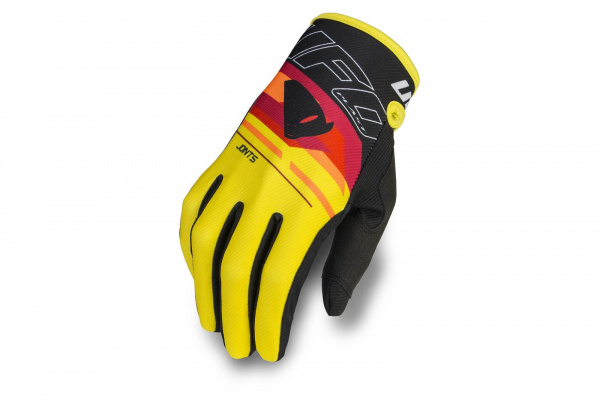 Motocross Joints gloves black and yellow - Gloves - GU04451-K - UFO Plast