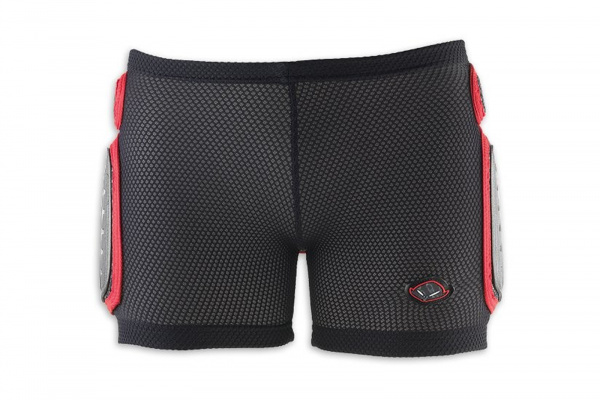 Motocross padded Shorts for kids white and red - Padded shorts - PI04158-WB - UFO Plast