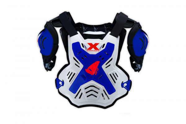 Motocross X-Concept chest protector white and blue - Chest protectors - PT02378-C - UFO Plast