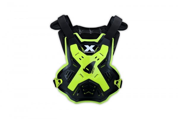 Motocross X-Concept Evo chest protector without shoulders black and neon yellow - Chest protectors - PT02386-DFLU - UFO Plast