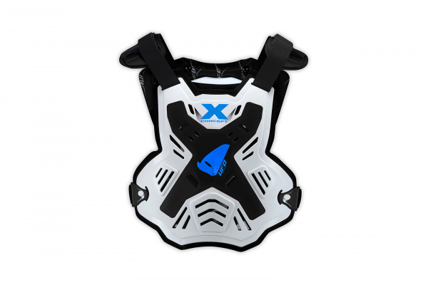 Motocross X-Concept Evo chest protector without shoulders white and black - Chest protectors - PT02386-K - UFO Plast
