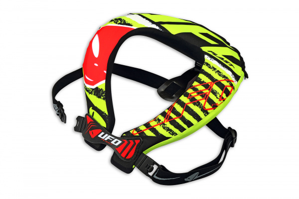Motocross neck support Bulldog neon yellow and red - Neck supports - PC02369 - UFO Plast