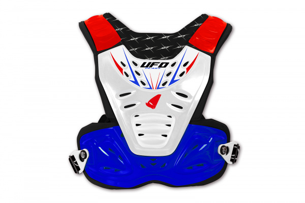 Motocross chest protector Reactor 2 Evolution for kids white, red and blue - Chest protectors - PT02275-CX - UFO Plast