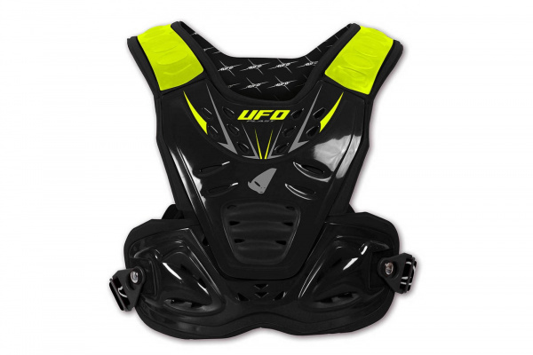 Motocross Reactor 2 Evolution chest protection black and neon yellow - Chest protectors - PT02272-K - UFO Plast