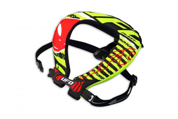 Motocross neck support Bulldog for kids red and neon yellow - Neck supports - PC02373 - UFO Plast