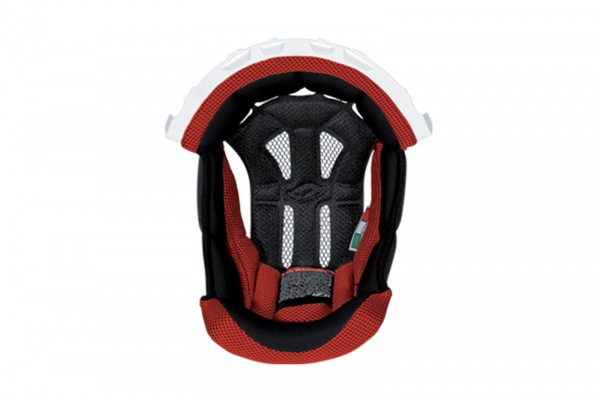 Inner pad for motocross helemt Interceptor & Warrior white and red - Helmet spare parts - HR010-WB - UFO Plast