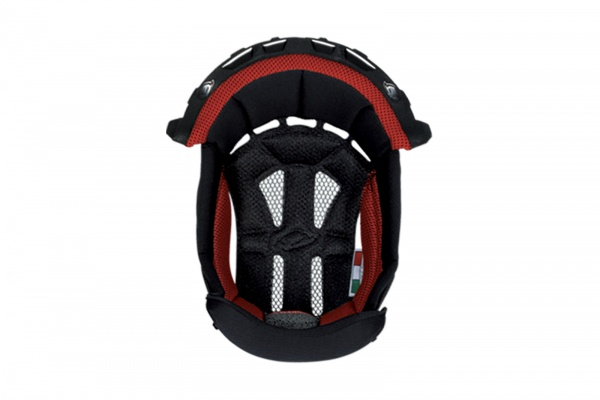 Inner pad for motocross helemt Interceptor & Warrior black and red - Helmet spare parts - HR010-KB - UFO Plast