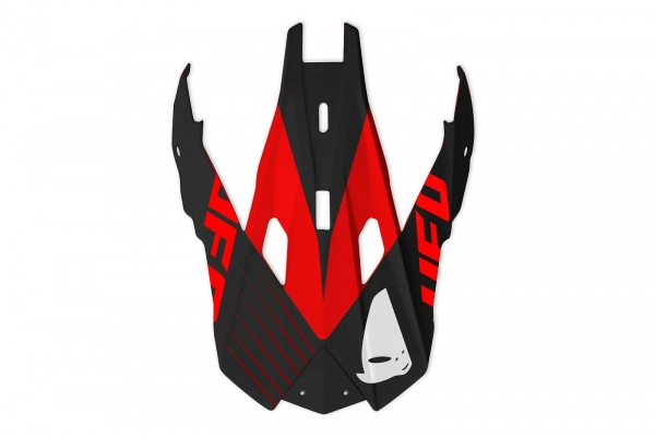 Visor for motocross Interceptor Red Devil helmet - Helmet spare parts - HR043 - UFO Plast