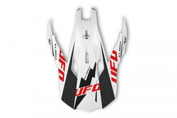 Visor for motocross Interceptor II Flash helmet white, black and red - Helmet spare parts - HR050 - UFO Plast